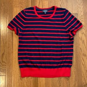 Lands end supination cotton short sleeve sweater
